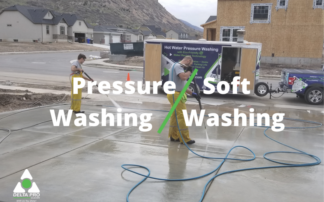 The Differences Between Soft Washing and Pressure Washing
